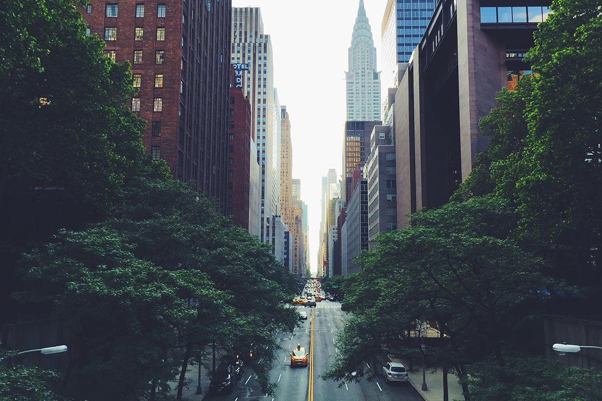 New York City Street in Midtown
